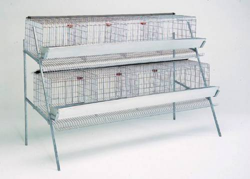 Клетки для кур несушек на 32-40 птиц, 8 секций