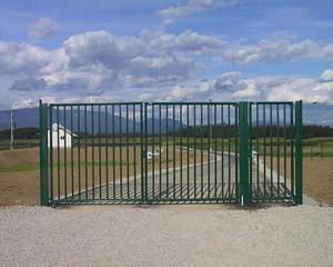 Ворота распашные металлические с калиткой по разумной цене